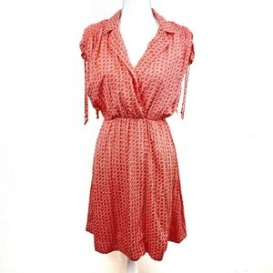 Maeve Red Short Sleeve Flare Dress Size XS